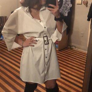 Dresses & Skirts - White button up dress